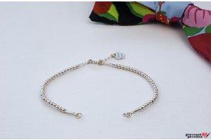Bratara SUPLIMENT Elastic Silver Beads