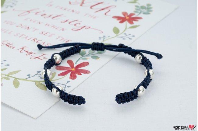 Bratara SUPLIMENT Maxi Beads (Snur impletit)