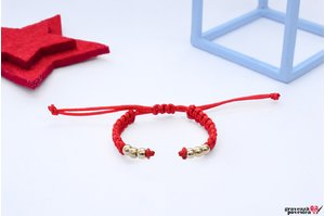 Bratara SUPLIMENT Beads PURE GOLD 14K (Snur impletit)