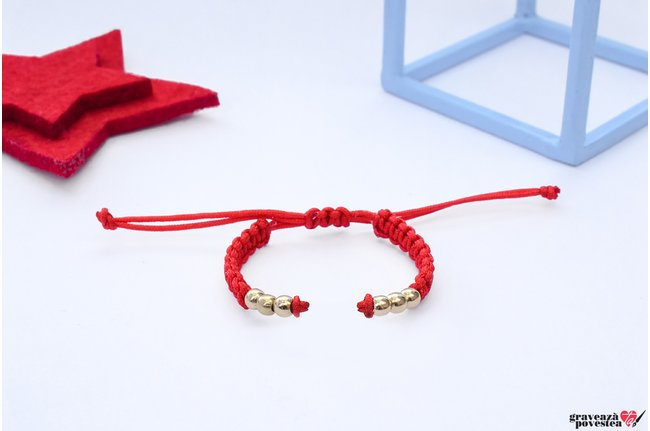 Bratara SUPLIMENT Beads GOLD 14K (Snur impletit)