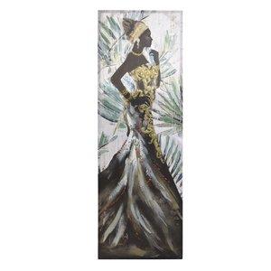 Aalyah Tablou femeie, Canvas, Multicolor