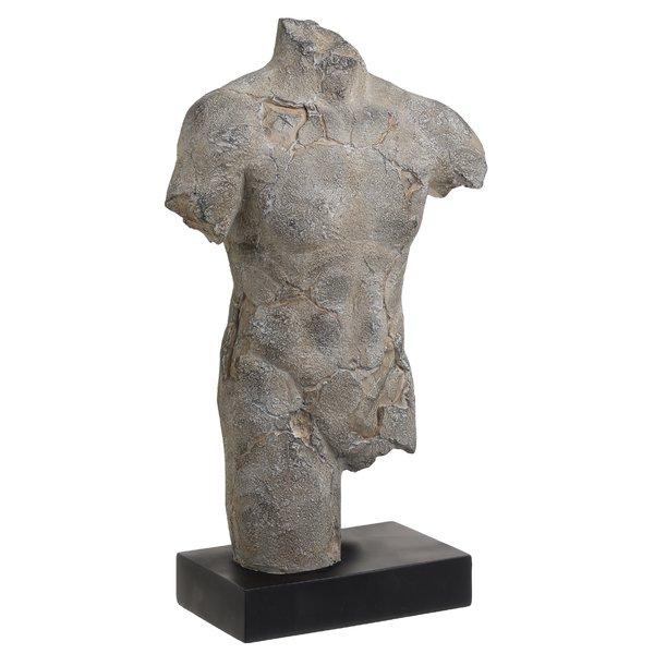 Achilles Statueta Barbat, Polirasina, Gri