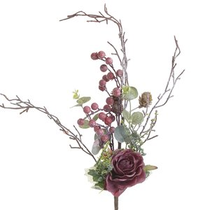 Alice Floare artificiala, Plastic, Rosu