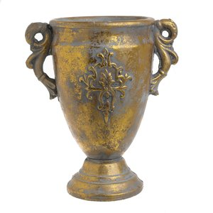 Amphora Vas decorativ, Ciment, Auriu