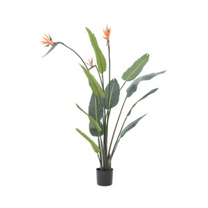 Arn Floare Strelitia artificiala ghiveci, Plastic, Verde