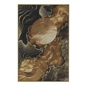 Arts Tablou abstract, Canvas, Auriu
