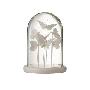 Bell Buttefly Decoratiune dom mica, Sticla, Alb