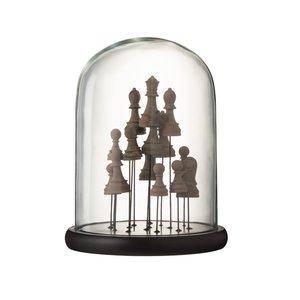 Bell Chess Decoratiune dom mediu, Sticla, Maro