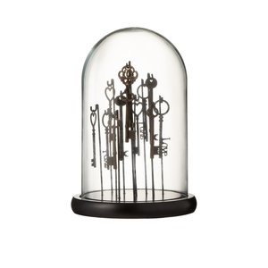 Bell Keys Decoratiune dom mic, Sticla, Maro
