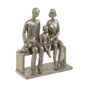 Bethany Statueta Familie, Polirasina, Auriu