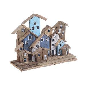 Bigcity Decoratiune case, Lemn, Albastru