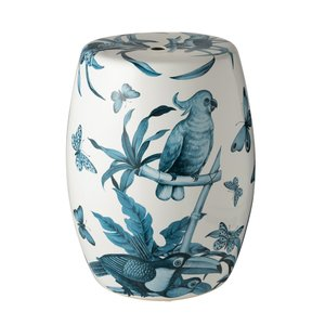 Birds Taburet decorativ, Ceramica, Alb
