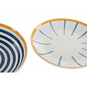 Caiden Set de masa 18 piese, Ceramica, Albastru