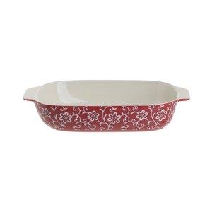 Carina Tava de copt mare, Ceramica, Rosu