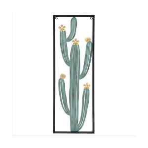 Chick Decoratiune perete cactus, Metal, Verde