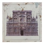Church Tablou cladire, Lemn, Multicolor