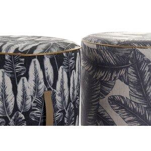 Clover Taburet, Textil, Gri