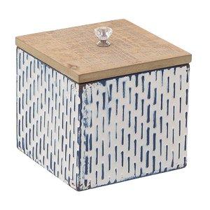 Corina Cutie decorativa cu capac, Metal, Albastru
