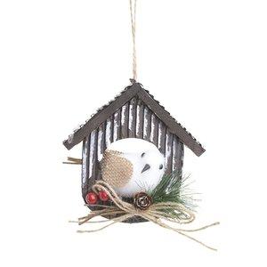 Decoratiune suspendabila Bird House White