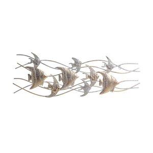 Deepfish Decoratiune perete pesti, Fier, Auriu