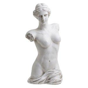 Elayn Statueta Femeie, Polirasina, Alb