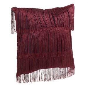 Emesa Perna decorativa franjuri, Textil, Rosu