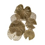 Evina Decoratiune perete frunze, Fier, Auriu