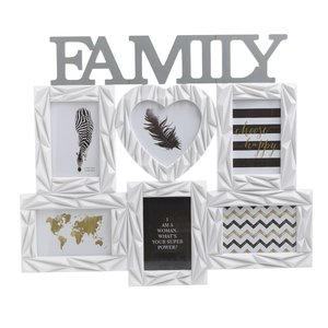 Family Rama Foto, Plastic, Alb