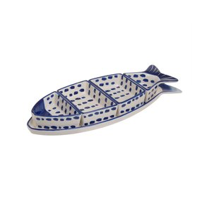 Fasa Set aperitiv 5 piese peste, Ceramica, Albastru