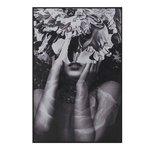 Feminin Tablou portret femeie, Canvas, Gri