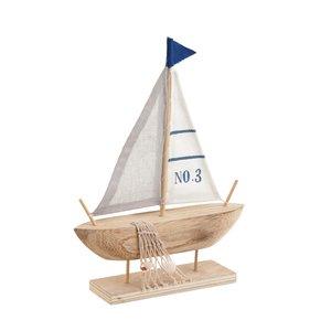 Frida Decoratiune Barca mare, Lemn, Bej