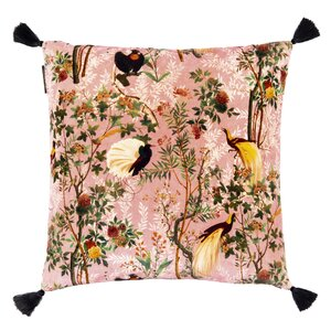 Gemme Embroidery Perna decorativa, Catifea, Roz