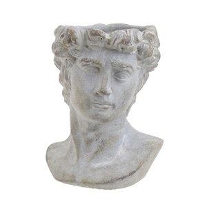 Greek Ghiveci barbat, Ciment, Gri