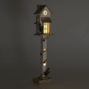 Household Decoratiune luminoasa, Lemn, Alb