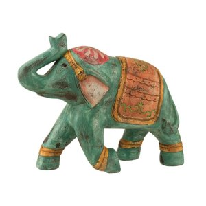 Indian Decoratiune elefant, Polirasina, Multicolor