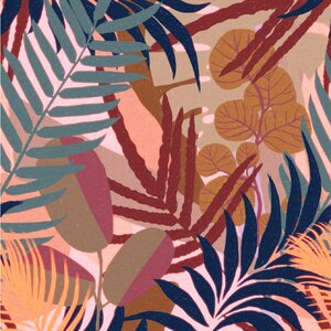 Jardin Del Sol Set 3 role tapet, Netesut, Multicolor