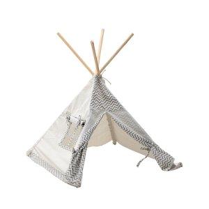 Kindery Cort copii stil indian, Textil, Alb