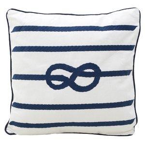 Knot Perna decorativa, Textil, Alb
