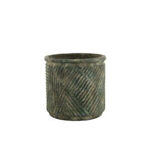 Lacy Ghiveci mare, Ceramica, Verde