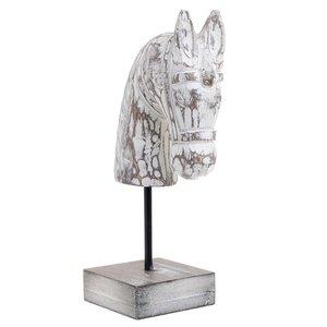 Lazaro Statueta Cal, Lemn, Alb