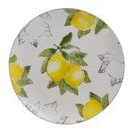 Lemon Farfurie lamai, Ceramica, Alb