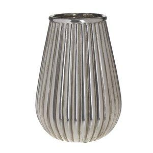 Lines Vaza, Ceramica, Argintiu