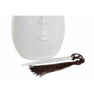 Maisie Vaza inalt, Ceramica, Alb