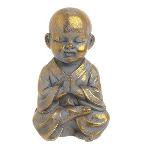 Manuel Statueta Shaolin, Ciment, Auriu