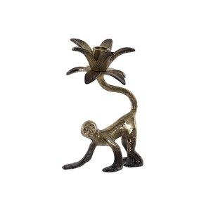 Momson Suport lumanare maimuta, Aluminiu, Auriu