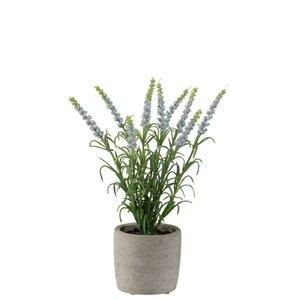 Naida Floarea artificiala in ghiveci, Plastic, Mov
