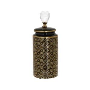 Orient Vas decorativ mic, Ceramica, Negru