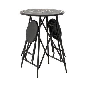 Otto Set masuta si scaune exterior, Fier, Negru