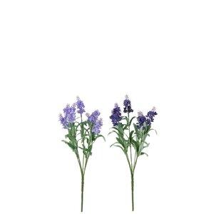 Padma Set 2 flori artificiale Lavanda mici, Plastic, Mov inchis