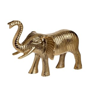 Paul Statueta Elefant, Metal, Auriu